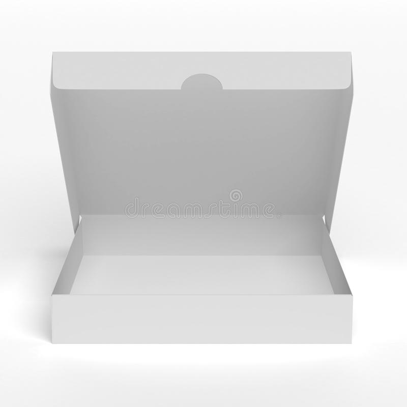 Blank flat opened box royalty free illustration
