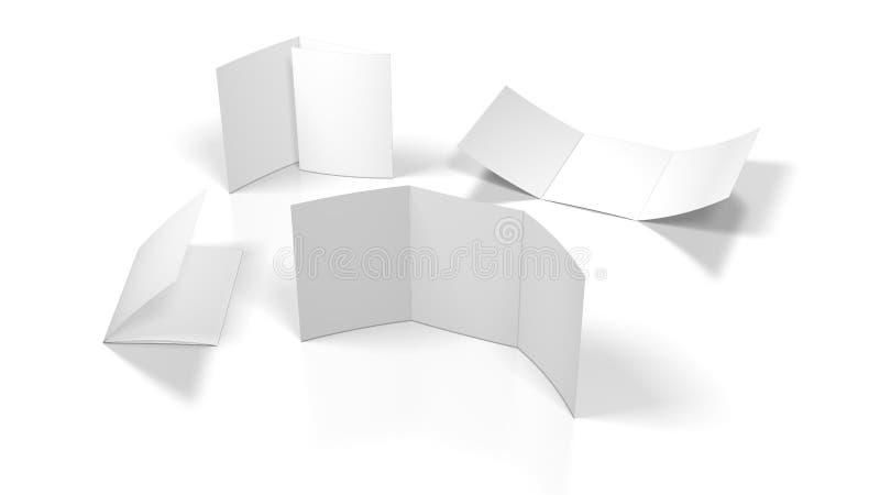 blank flayer vektor illustrationer