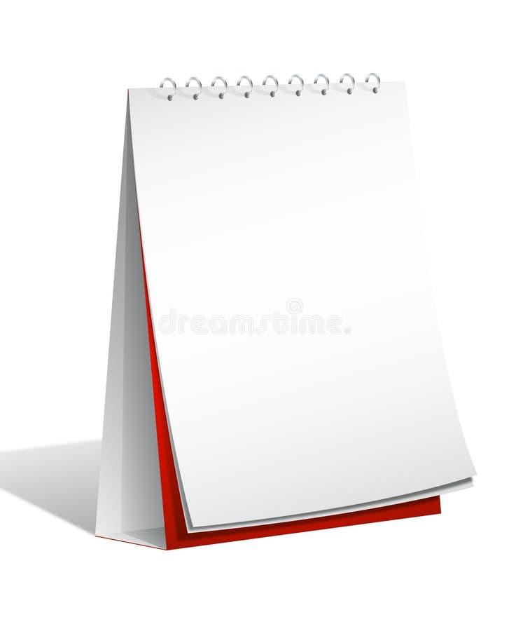 Blank Flip Chart. Stand on white background vector illustration
