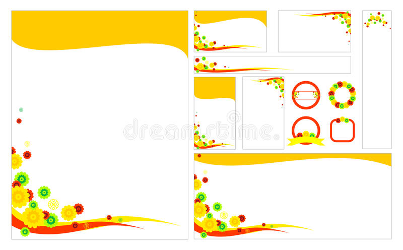 Blank floral stationery set template stock vector illustration of download blank floral stationery set template stock vector illustration of cards letterhead 69959912 spiritdancerdesigns Image collections