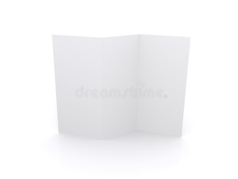 Blank flyer royalty free stock photo