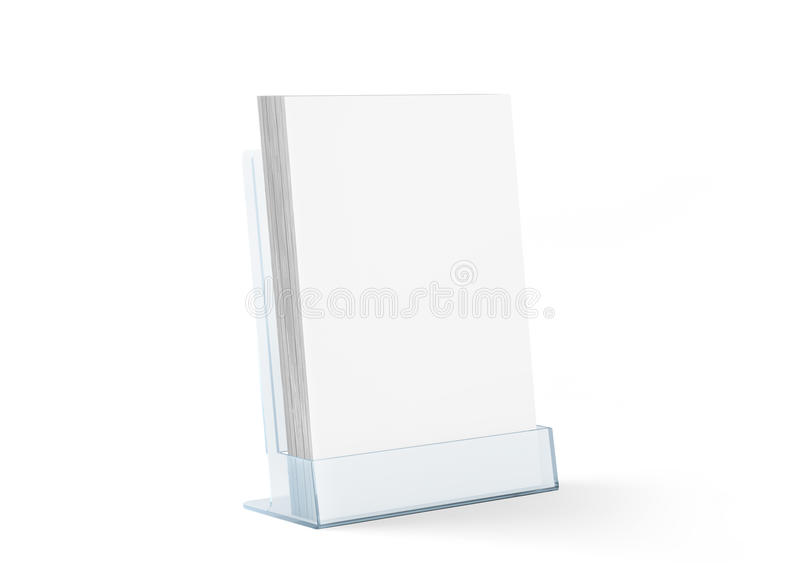 Blank flyer mockup glass plastic transparent holder royalty free stock photos