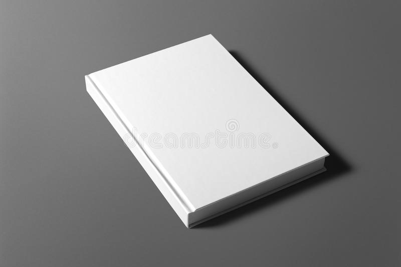Blank flyer poster isolated on grey. To replace your design or message royalty free stock images