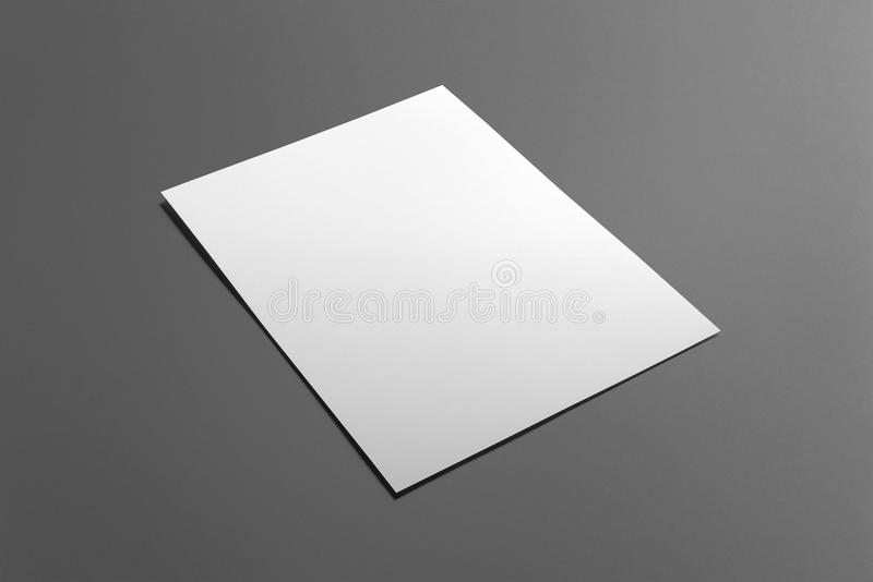 Blank flyer poster isolated on grey stock images