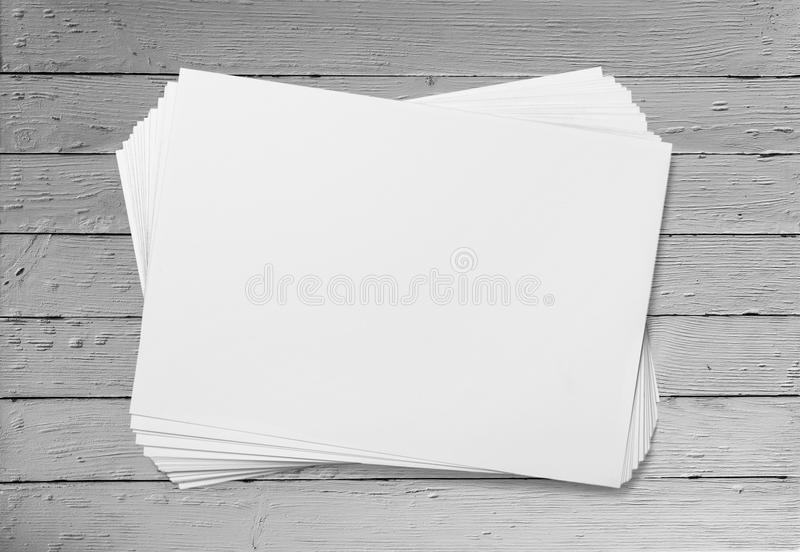 Blank flyers. Stack paper pile white new group royalty free stock photos