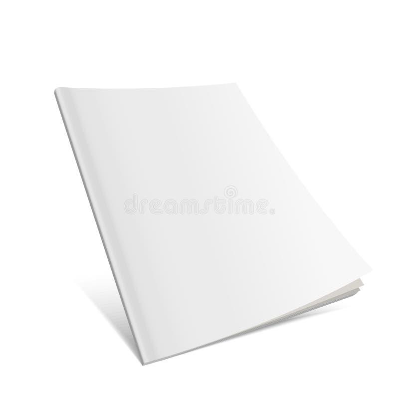 Blank Flying Cover Of Magazine, Book, Booklet, Brochure. vector illustration