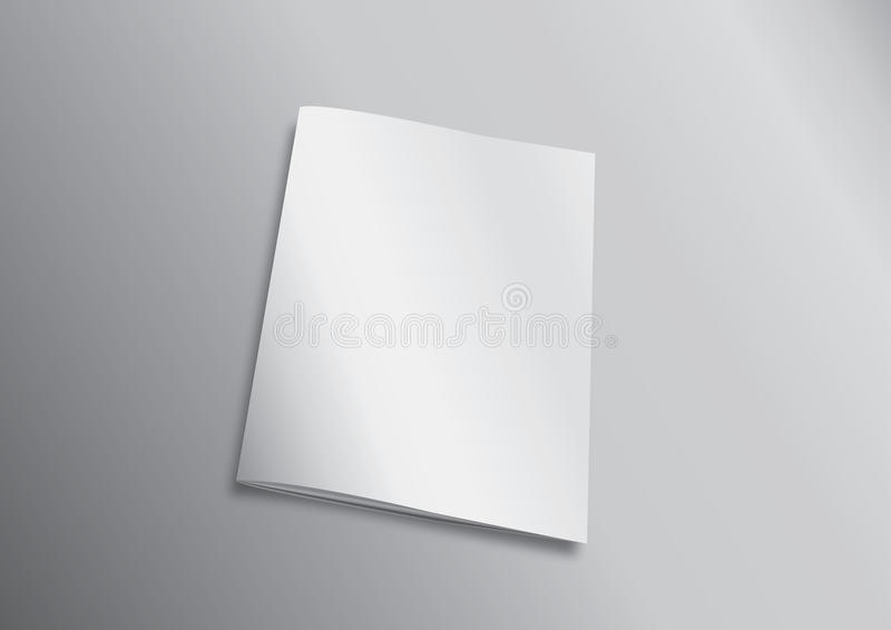 Blank Flying Cover Of Magazine or Book stock illustration