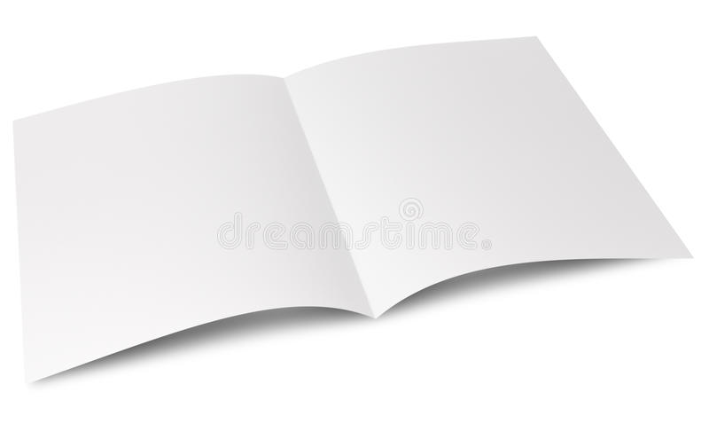 Blank folded flyer stock images