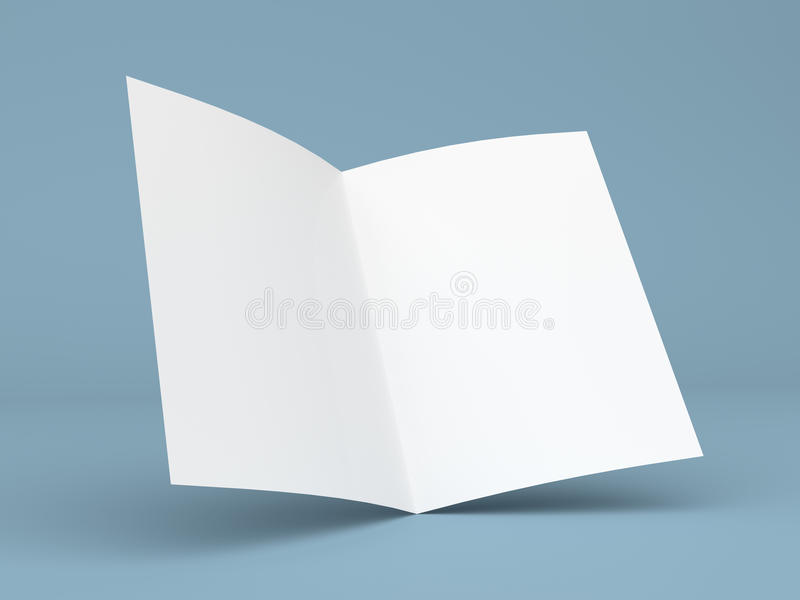 blank folded flyer  booklet  business card or brochure