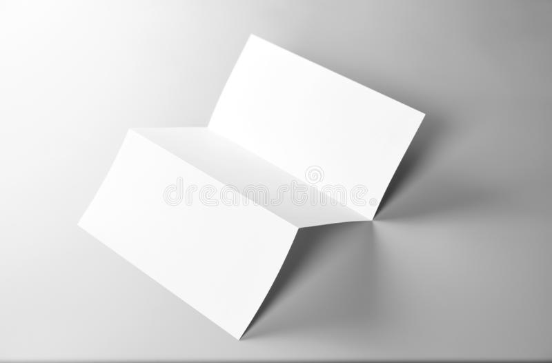 Blank Folded Letter, Letterhead, or Flyer royalty free stock photography