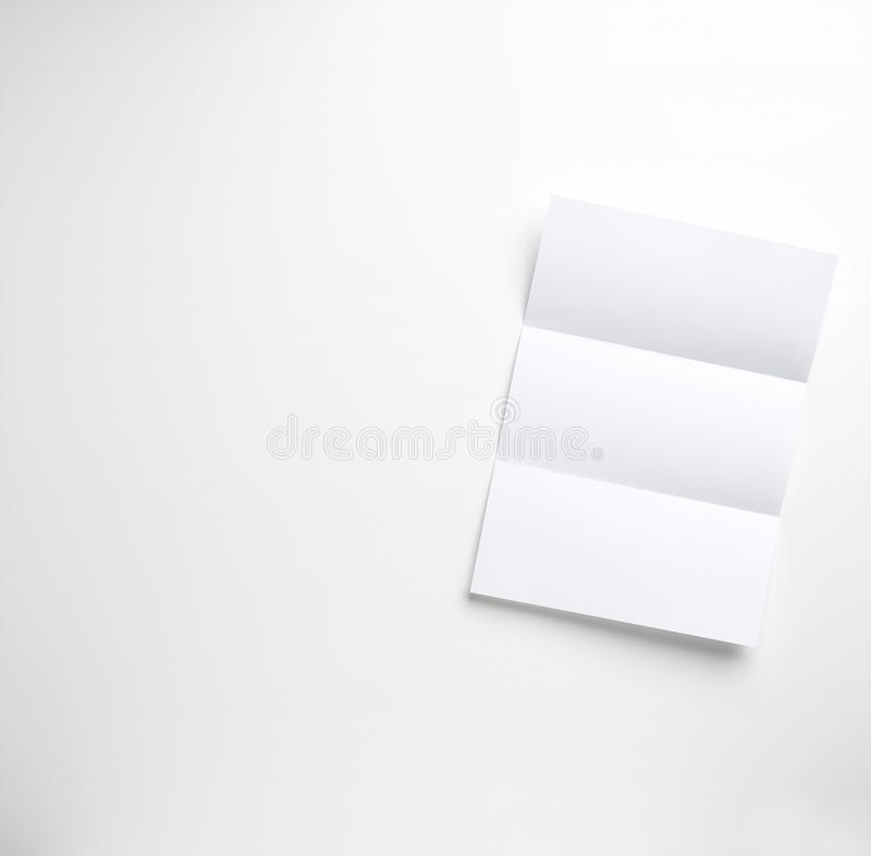 Blank folded letter on a white background. A blank folded letter on a white background royalty free stock images