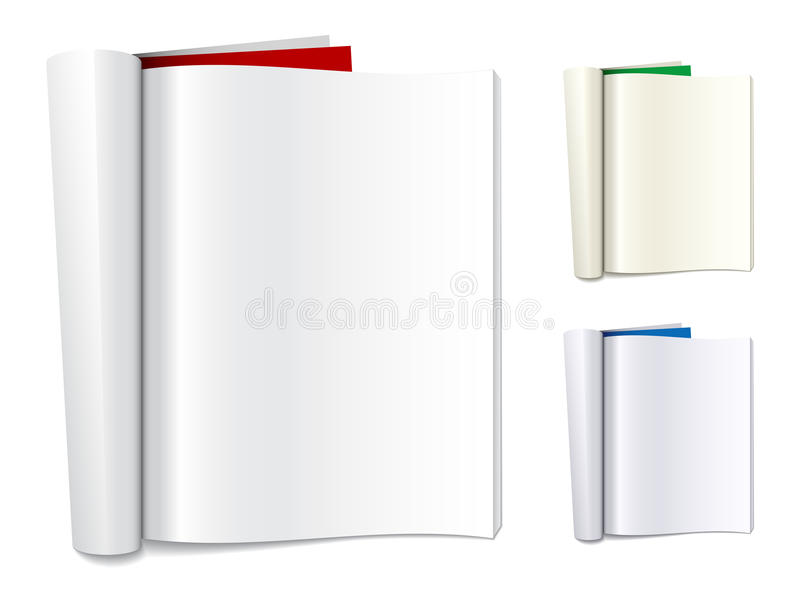 Download Blank folded magazines stock vector. Image of advertise - 22513769