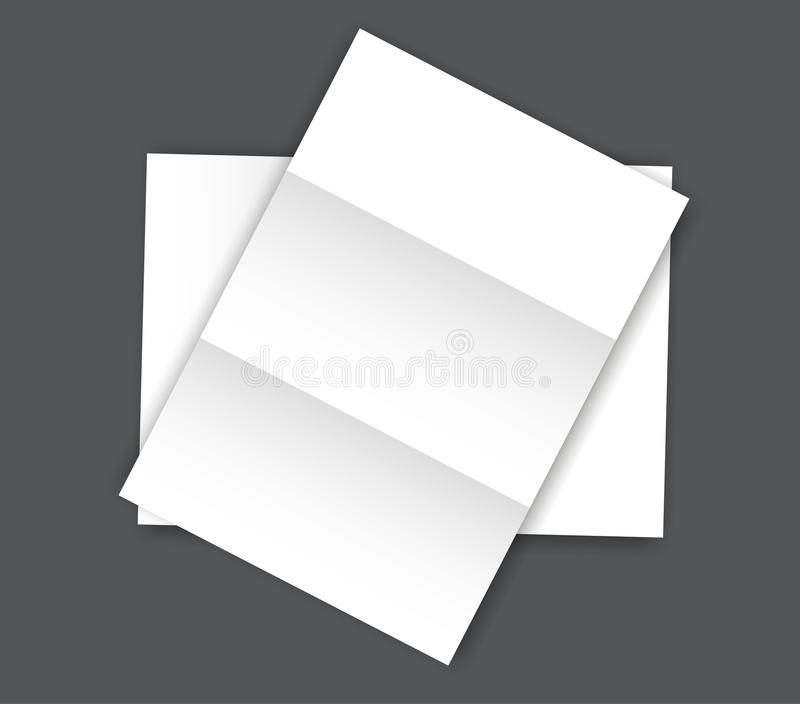Blank folded Paper Page blank A4 mockup vector illustration