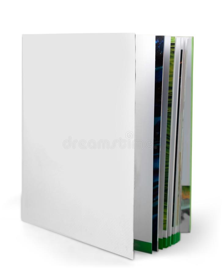Blank Folder with magazines inside standing stock images