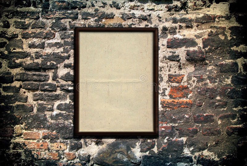 Blank frame stock photography