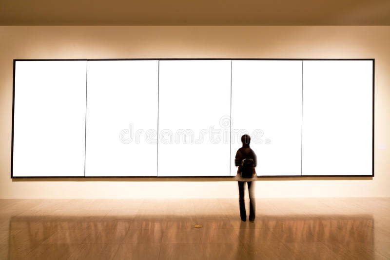 Blank frame in art gallery royalty free stock images