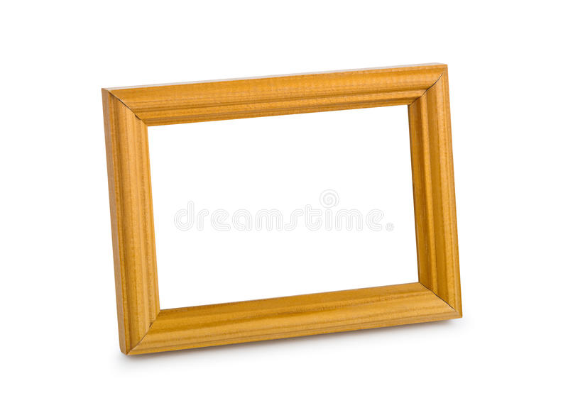 Blank frame. Isolated on white background stock image