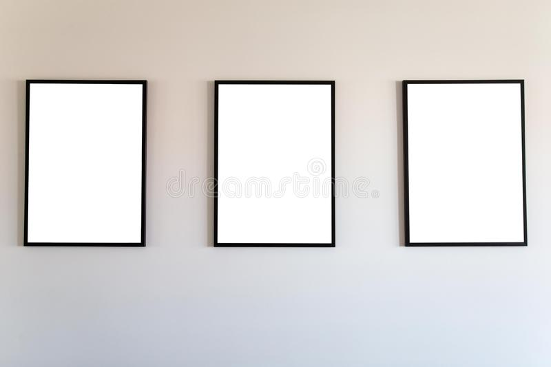 Blank frame mock up. stock image
