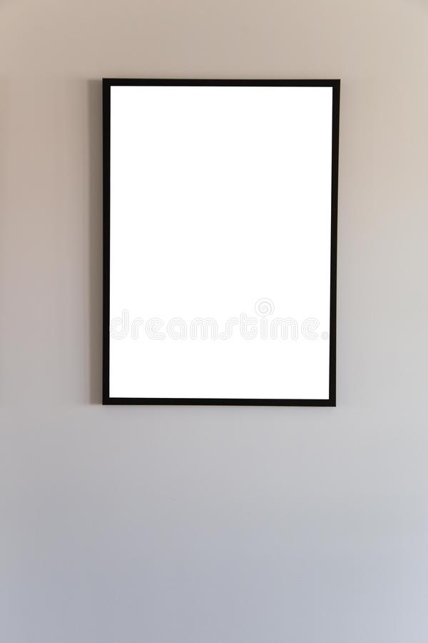 Blank frame mock up. stock illustration