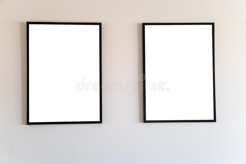 Blank frame mock up. royalty free illustration