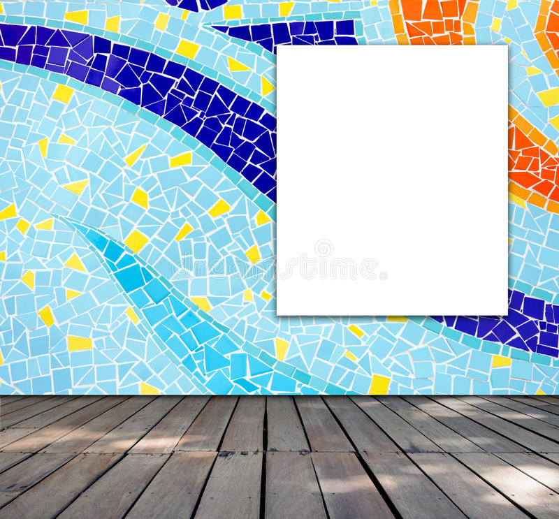 Blank frame on mosaic tile royalty free stock images