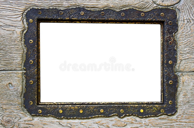 Download Blank Frame On Obsolete Wood Stock Photo - Image: 14387502