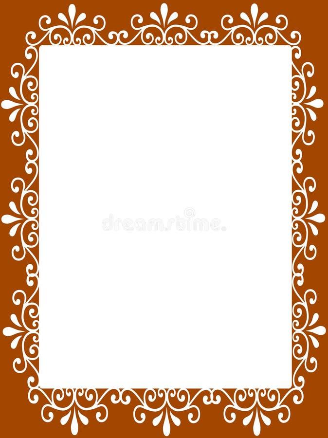Blank frame paper royalty free illustration