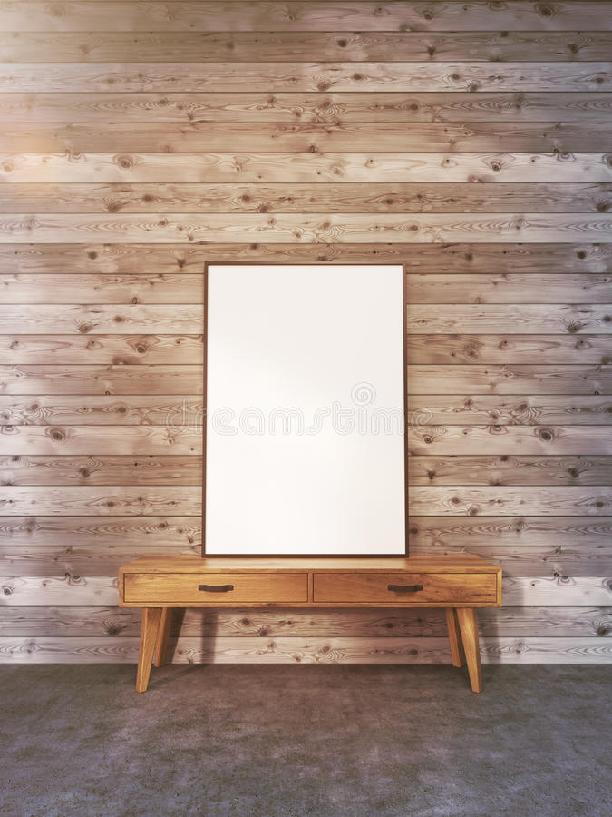 Blank Frame On Stand Toning Stock Illustration - Illustration of ...
