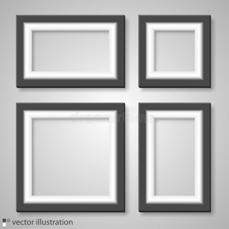 Blank frame on a white background vector illustration