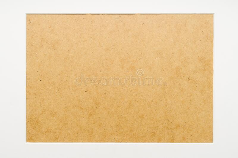 blank frame with a white border stock image
