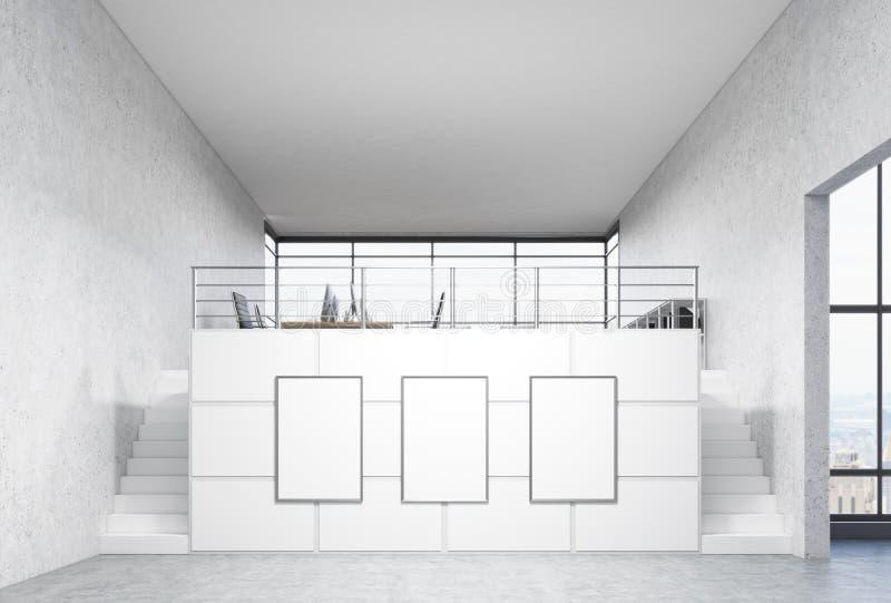 Blank frames in office stock illustration. Illustration of pattern ...