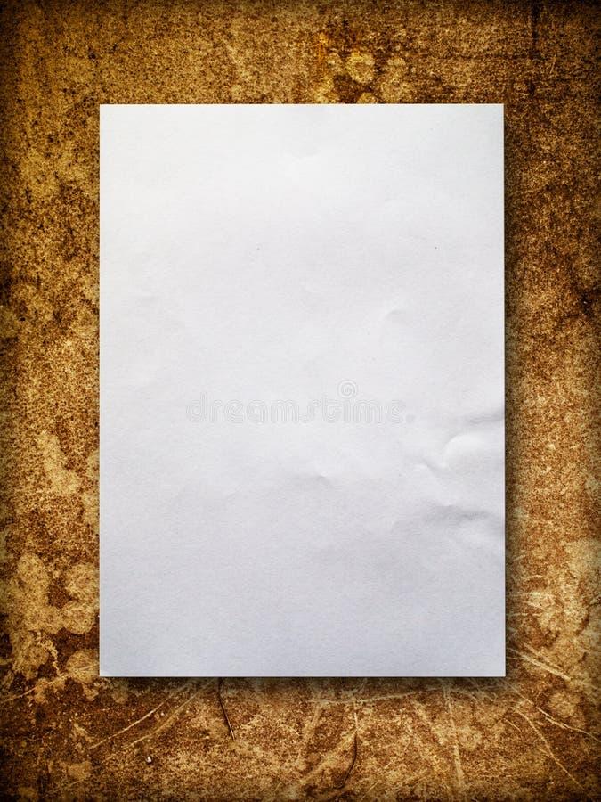 blank gammal paper vägg arkivbild