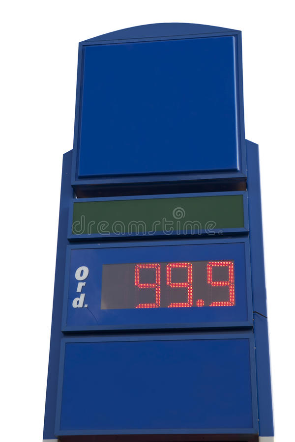 Download Blank Gas Price Sign stock image. Image of empty, liter - 21004463