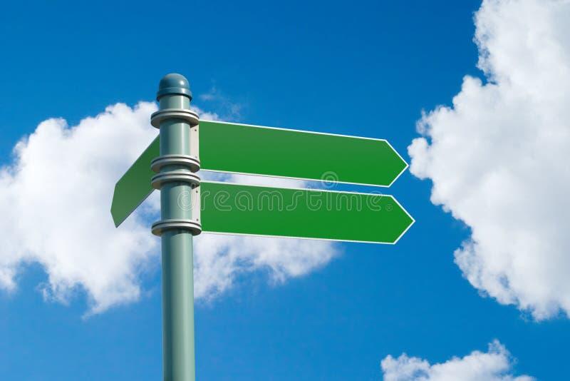 blank gata w för tecken för clippingbana arkivbild