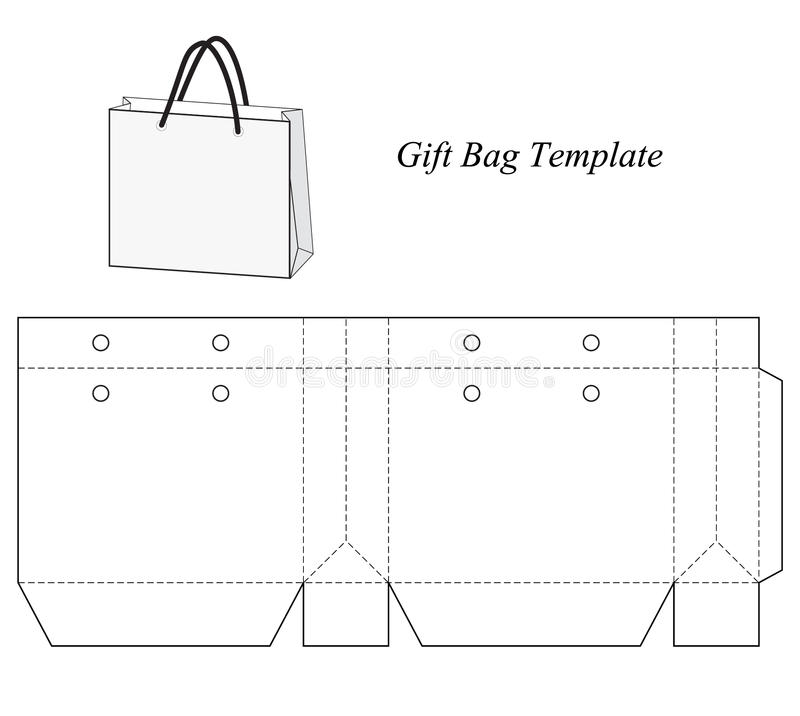 Free Blank Gift Bag Template Stock Photography - 48154672