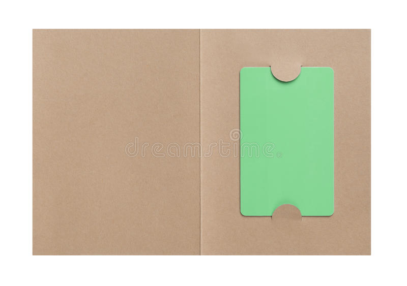 Download Gift Card in paper cover stock photo. Image of coupon - 29952918