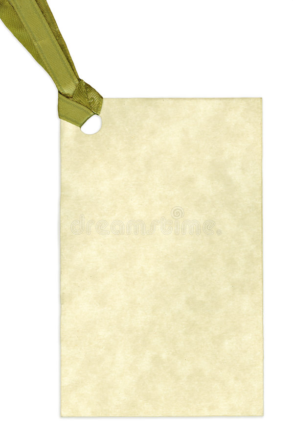 Blank Gift Tag Isolated on White Background royalty free stock photography