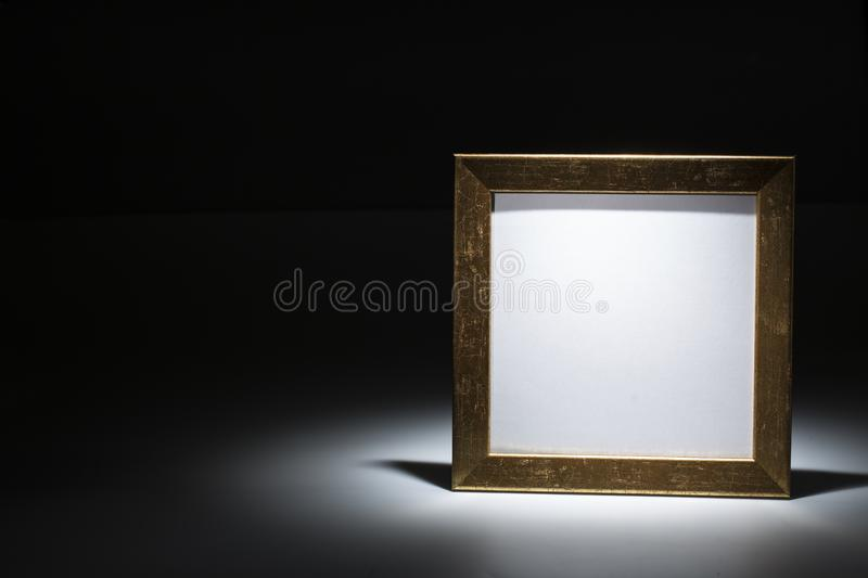 Blank gilded picture frame royalty free stock images