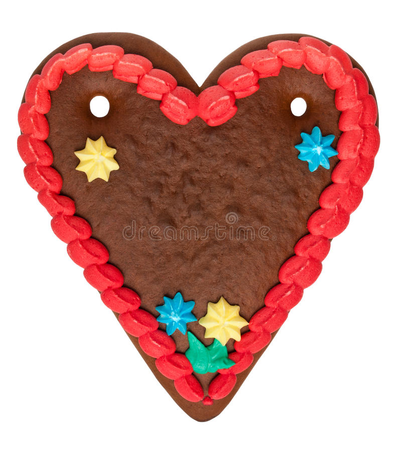 Blank Gingerbread Heart royalty free stock images