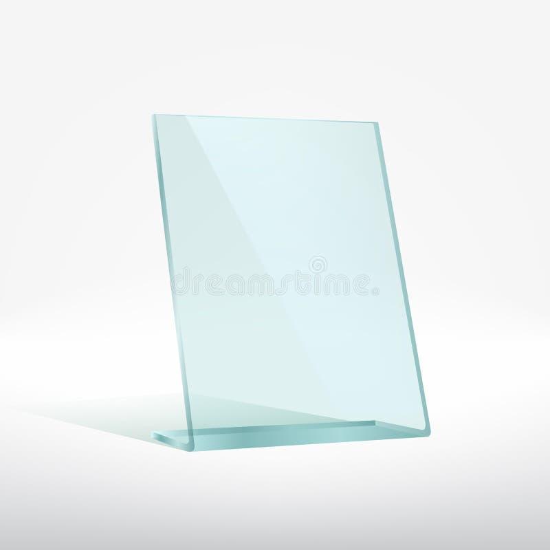 Blank glass award plate stock illustration