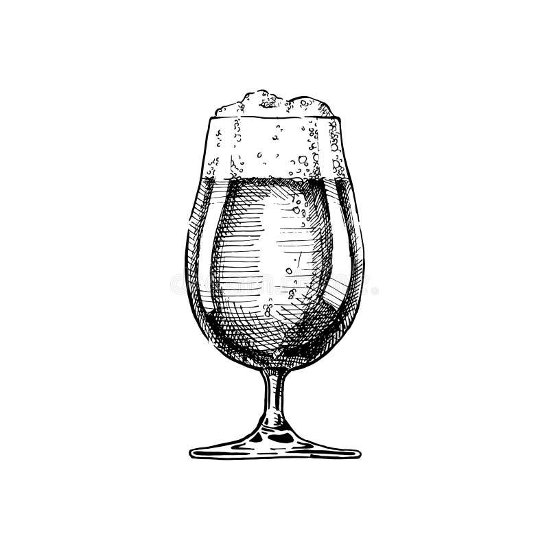 blank glass illustration för bakgrundsöl stock illustrationer