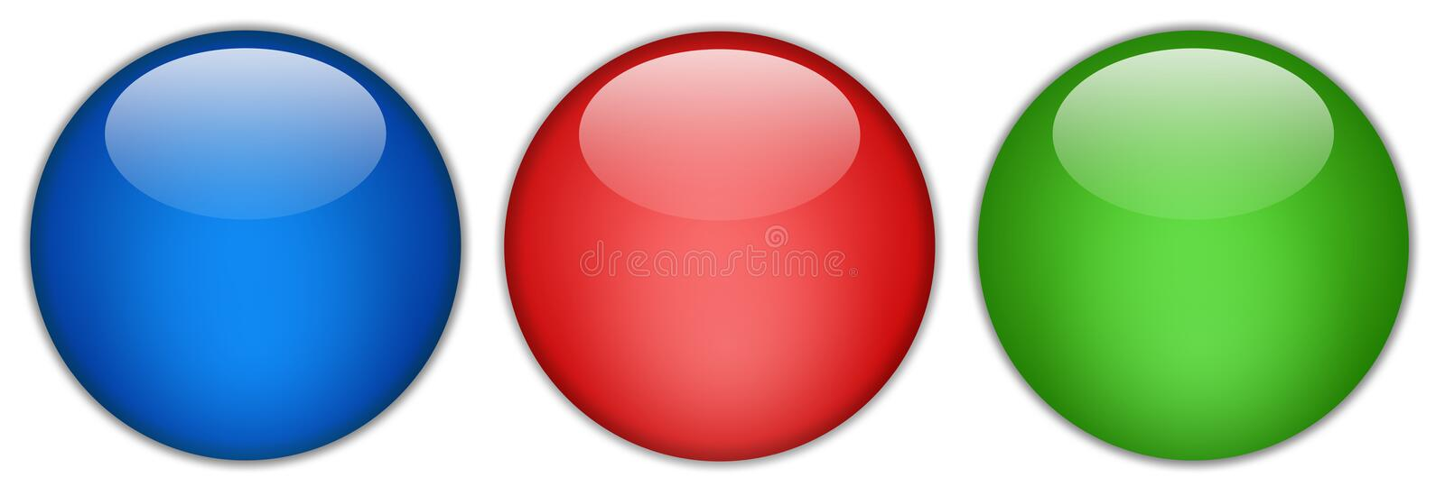 Blank glossy web button royalty free illustration
