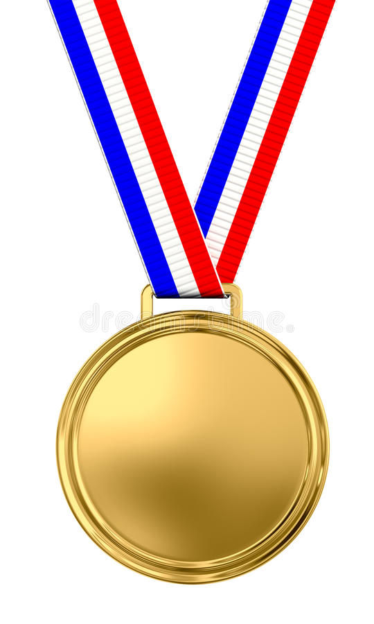 Blank gold medal royalty free illustration