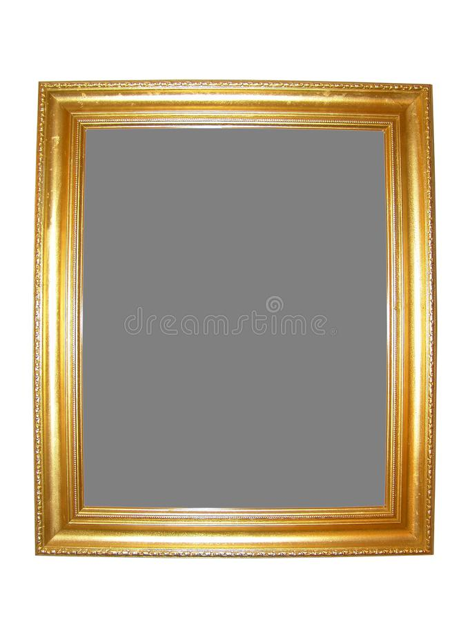 Blank Gold Picture Frame royalty free stock images