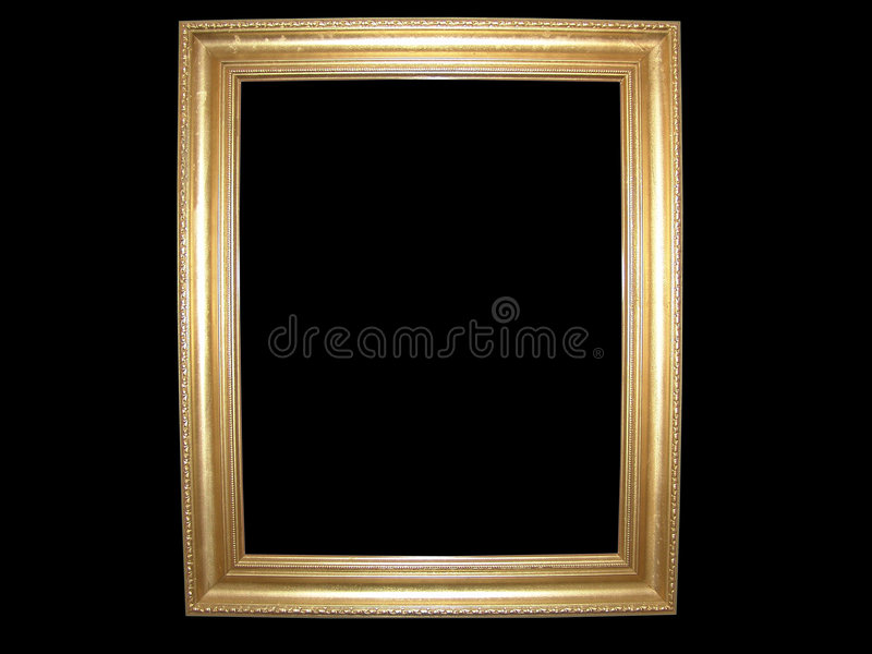 Blank Gold Picture Frame stock photography
