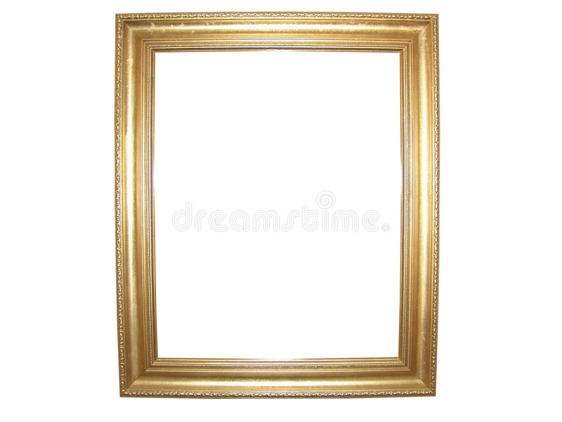Blank Gold Picture Frame stock images