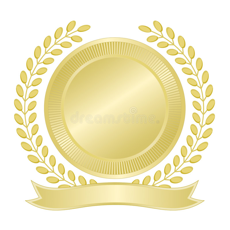 Free Blank Gold Seal Stock Photography - 6442552