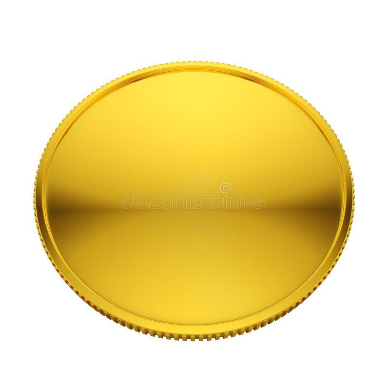 Download Blank golden coin stock illustration. Image of medal - 28412976