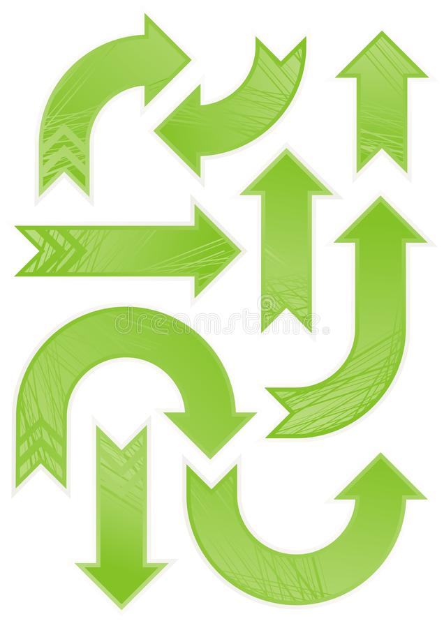 Blank grön mönstrad pilset royaltyfri fotografi