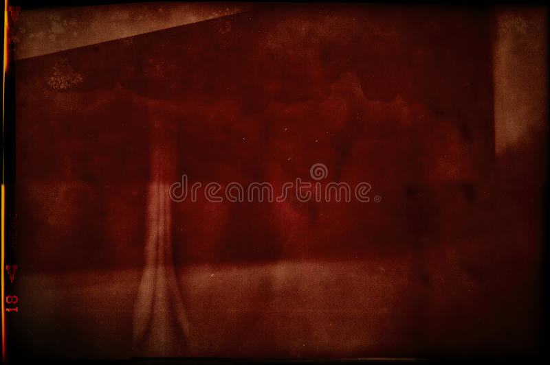 Blank grained and scratched film strip texture stock images